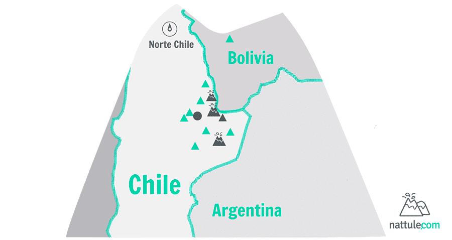 3 volcanes y «algo más» en el desierto de Atacama chileno