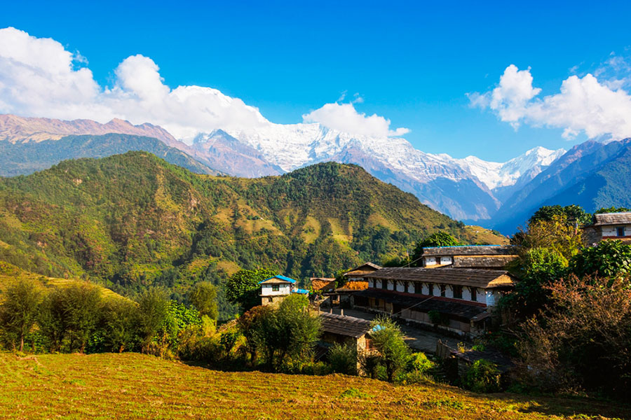 Macizo del Annapurna desde Ghandruk