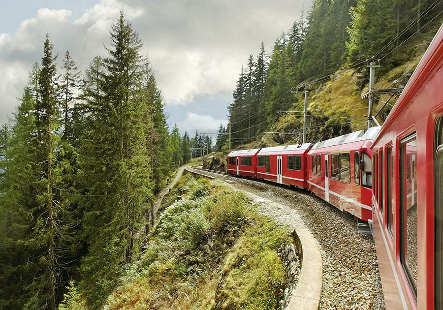 El emblemático tren Bernina Express
