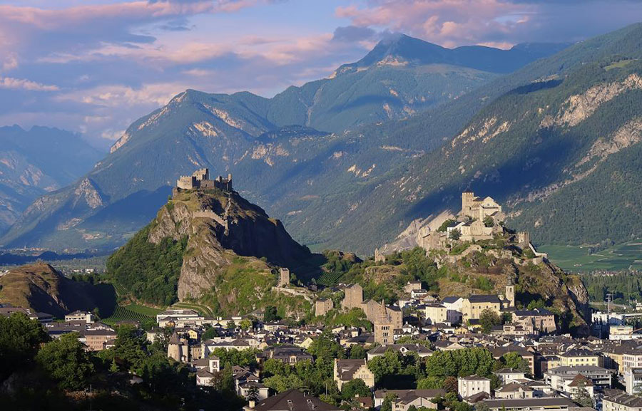 Sion, la capital del cantón de Valais