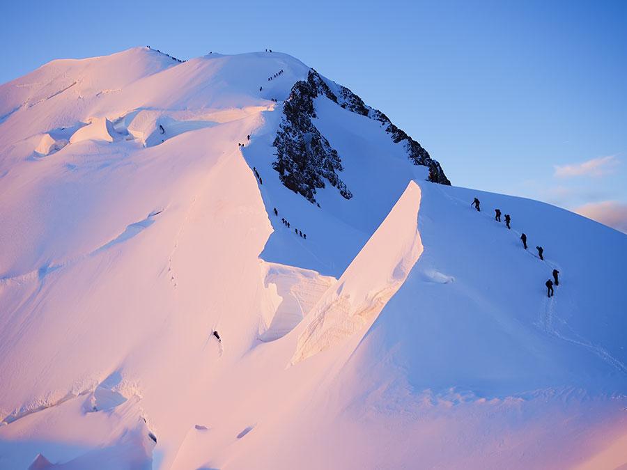 Les Bosses, ruta Goûter Mont Blanc