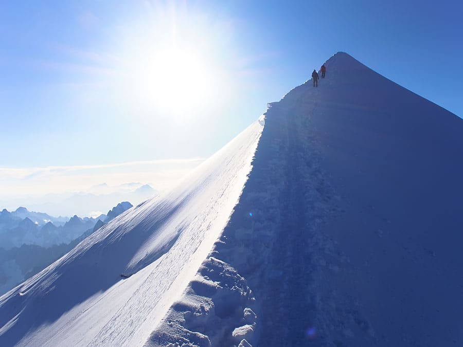 ruta Goûter Mont Blanc
