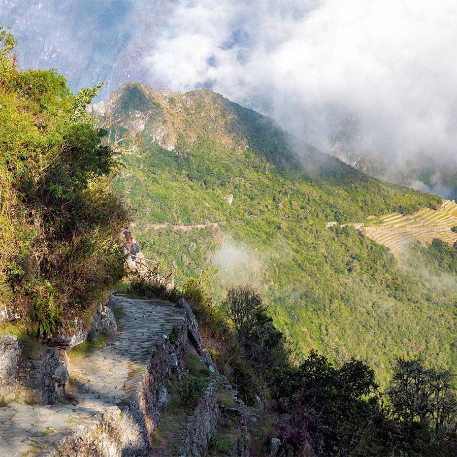 Vista atrás desde Intipunku